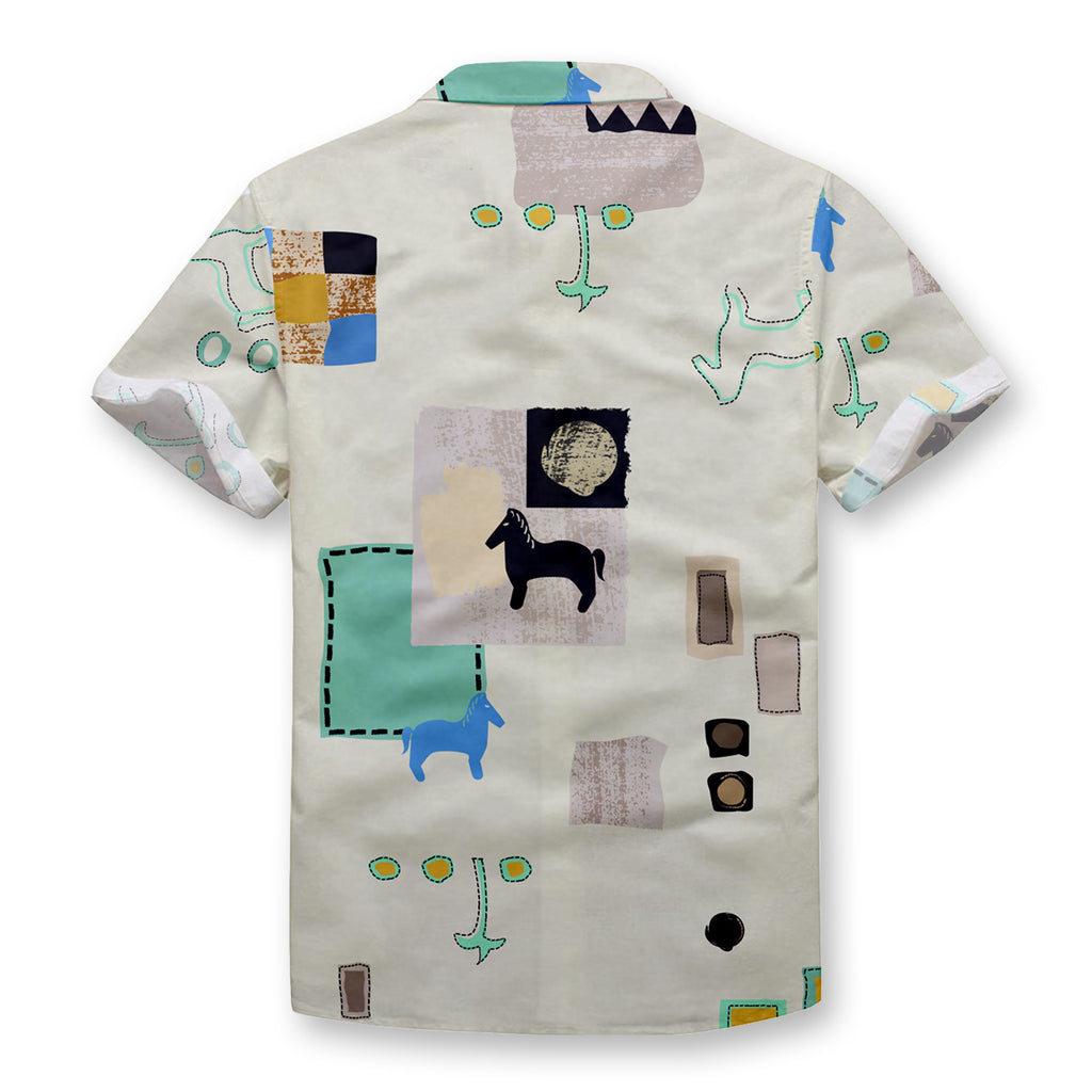 Modern Hieroglyphics Button Shirt