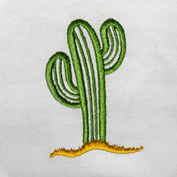 Cactus Embroidered Oversized Tank Top