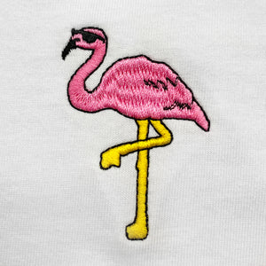Flamingo Embroidered Oversized Tank Top