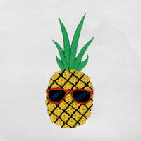 Pineapple Embroidered Oversized Tank Top