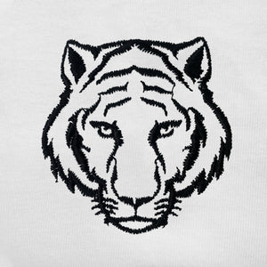 Tiger Embroidered Oversized Tank Top