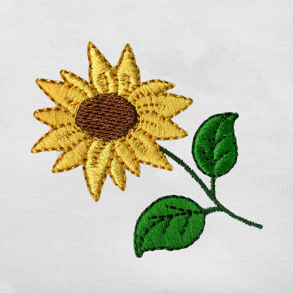 Sunflower Embroidered Oversized Tank Top