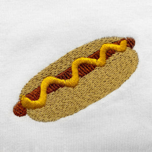 Hot Dog Embroidered T-Shirt