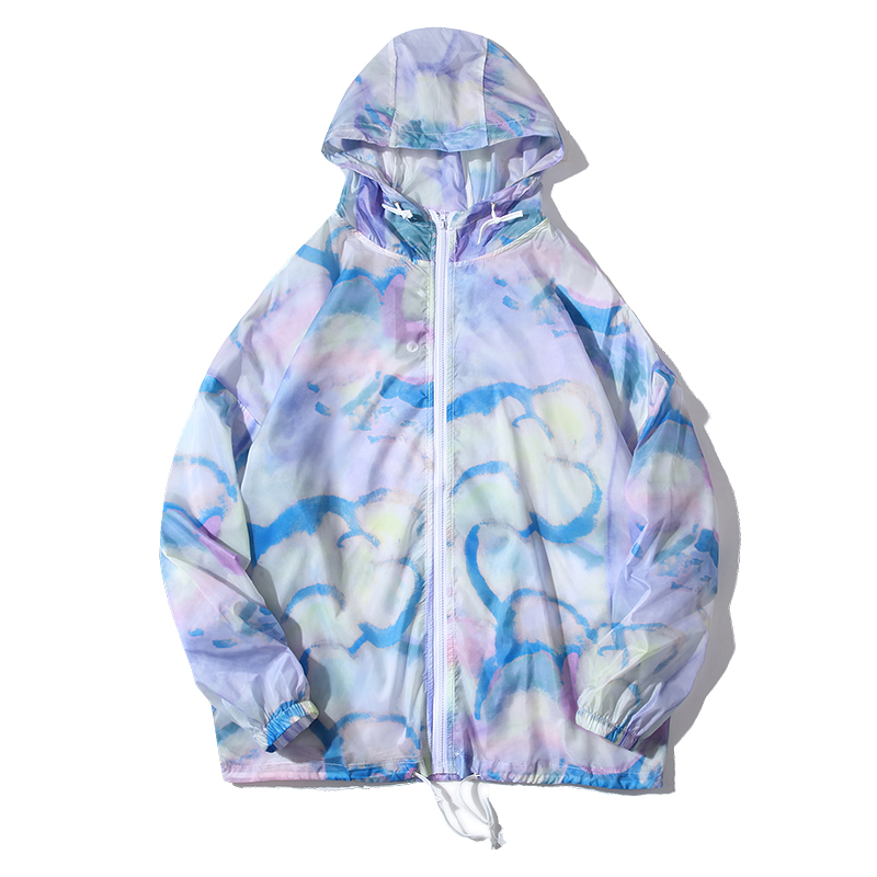Purple Clouds Thin Rain Coat
