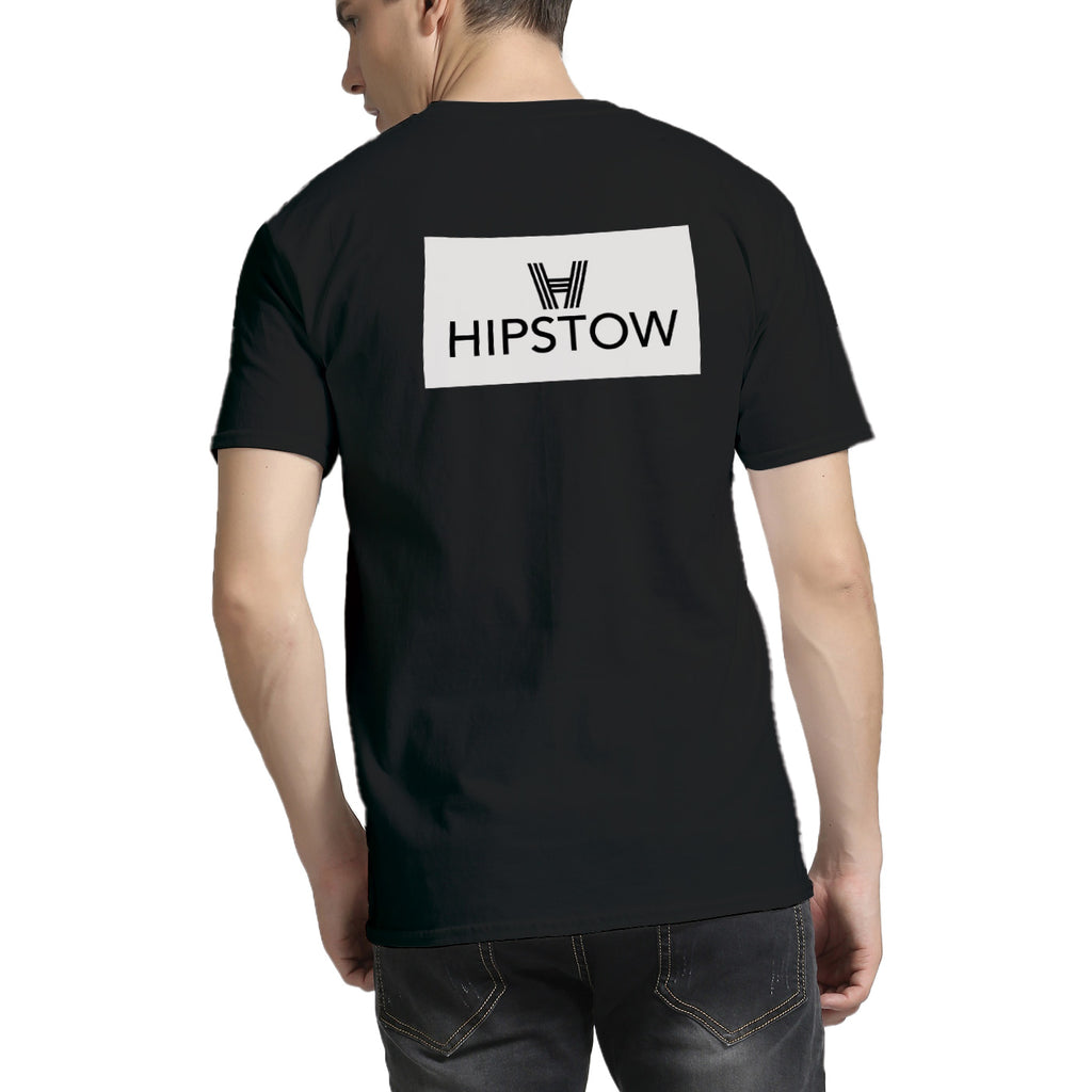 Hipstow Boxed Logo V-Neck T-Shirt