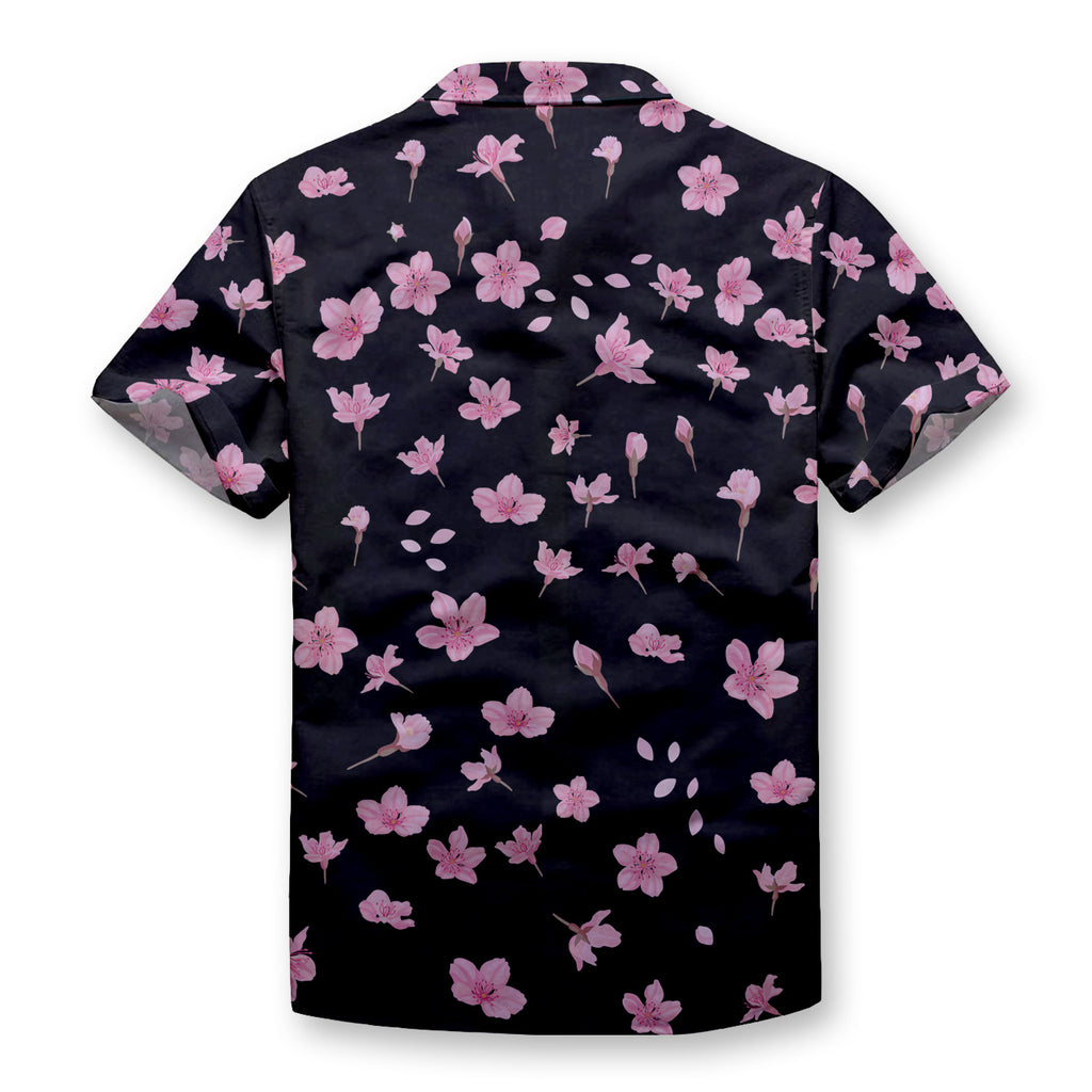 Pink Pansy Floral Button Shirt