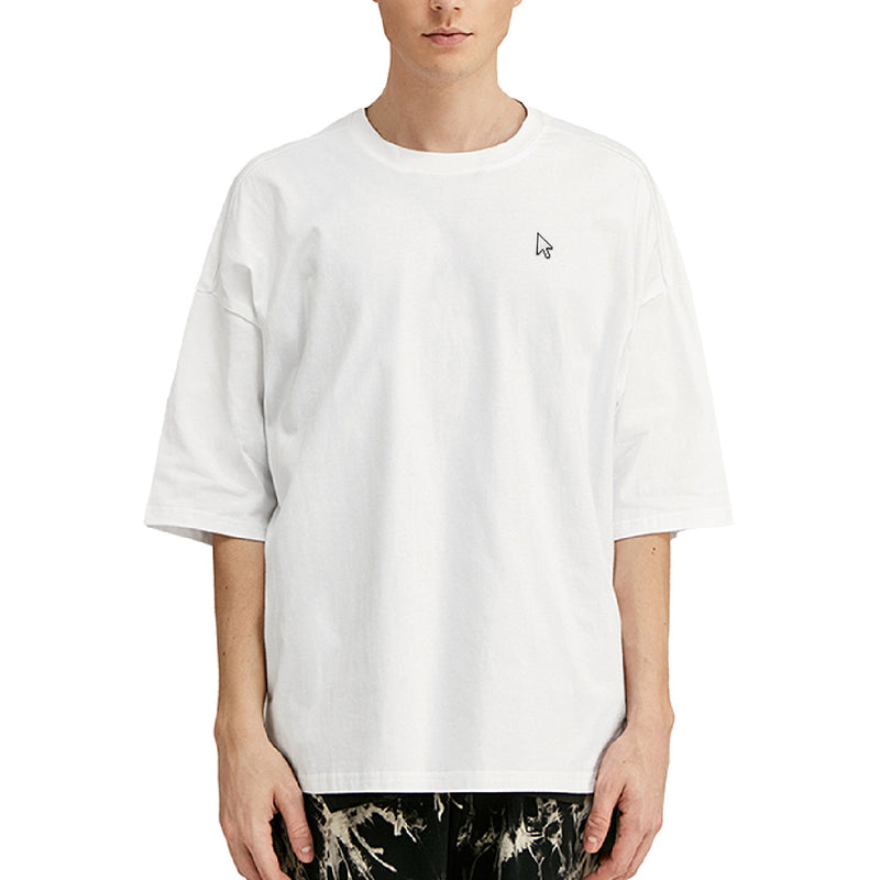 Mouse Embroidered Oversized T-Shirt