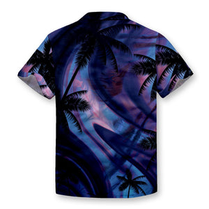 Twilight Palms Button Shirt