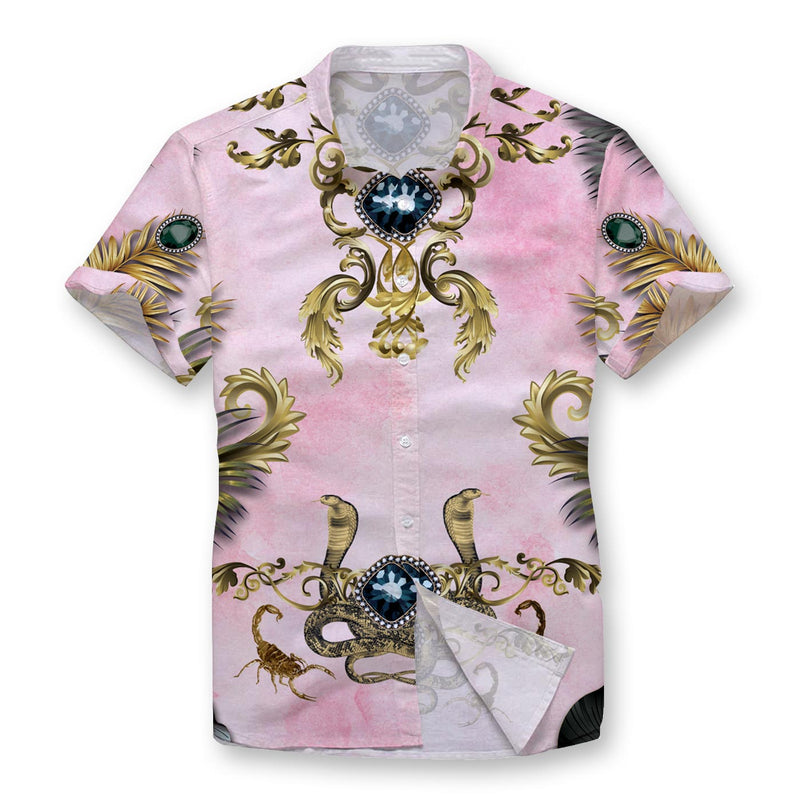 Pink Gloom Button Shirt