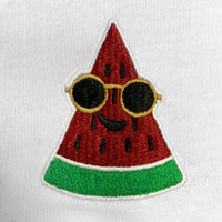 Watermelon Embroidered V-Neck T-Shirt