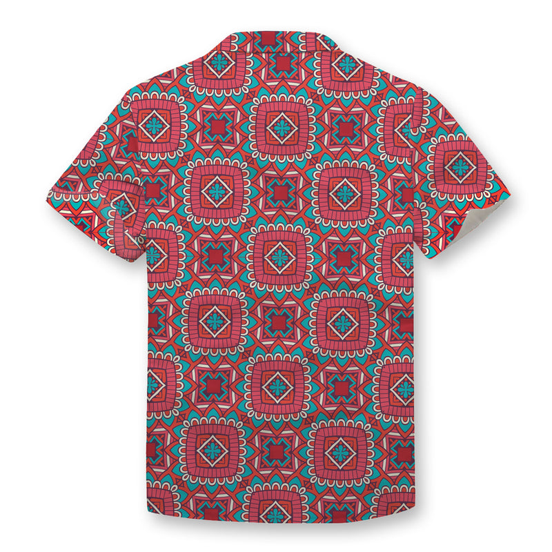 Ethnic Red Button Shirt