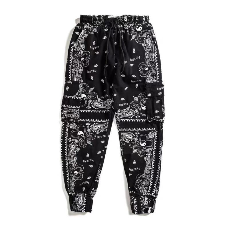 Yin And Yang Patterned Joggers