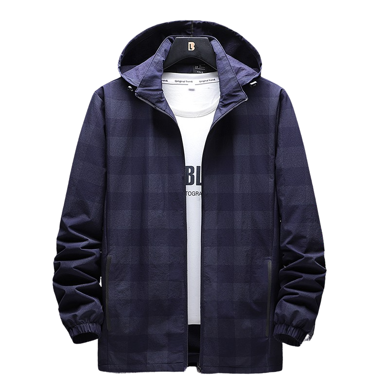 Hooded Plaid Jacket