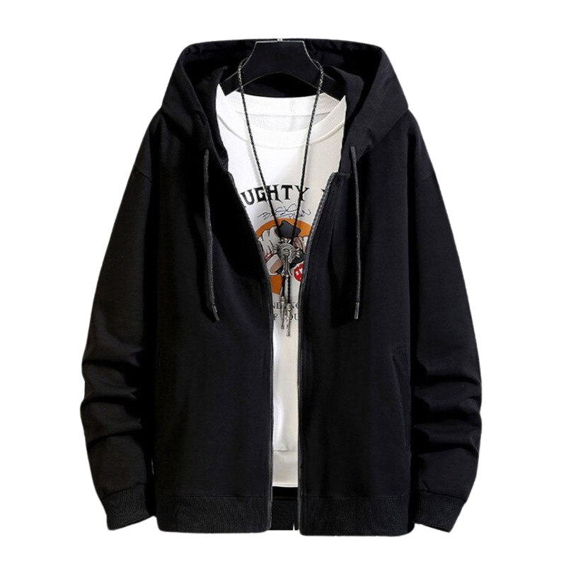 Outdoor Cotton Zip Up Hoodie