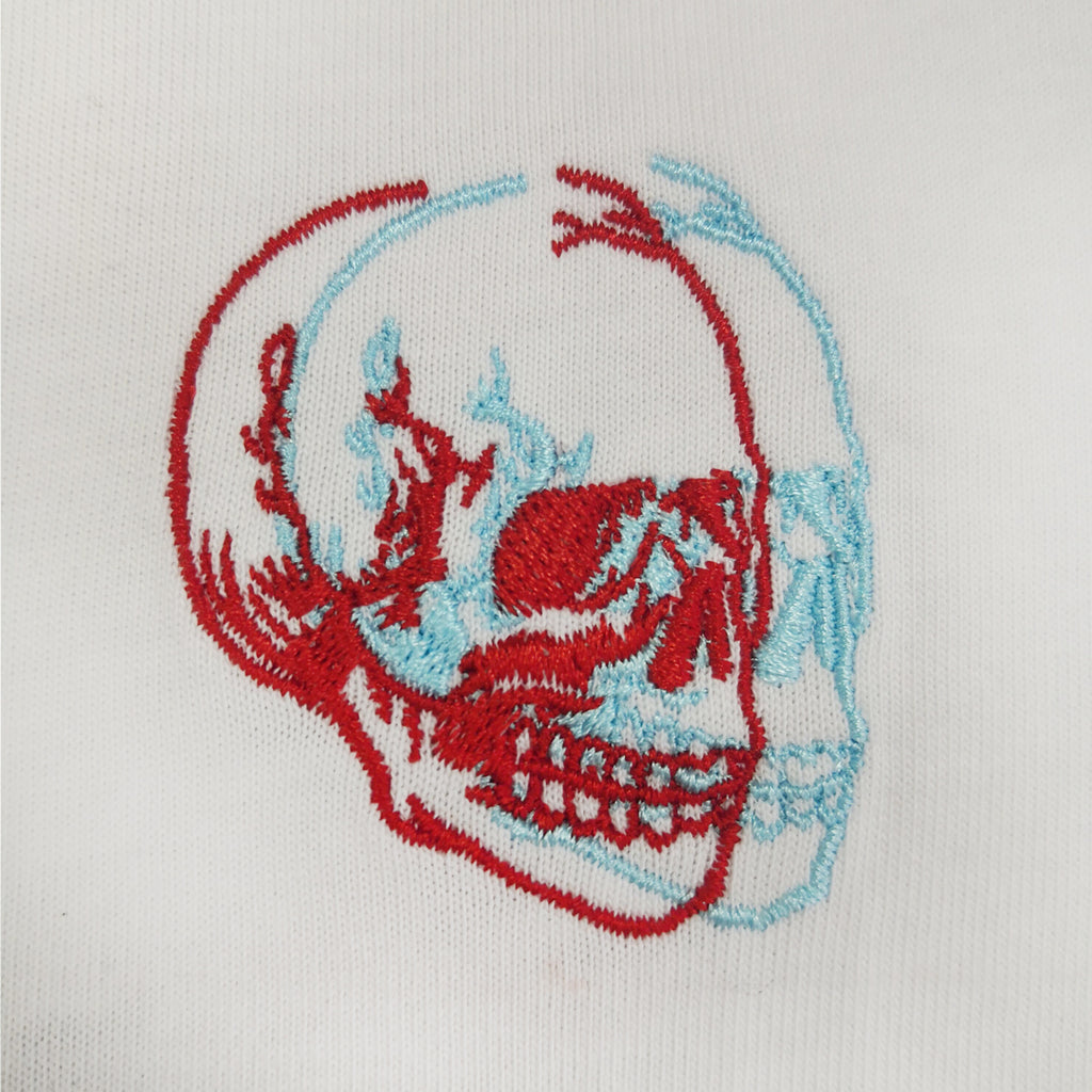 B&R Skull Embroidered Hoodie