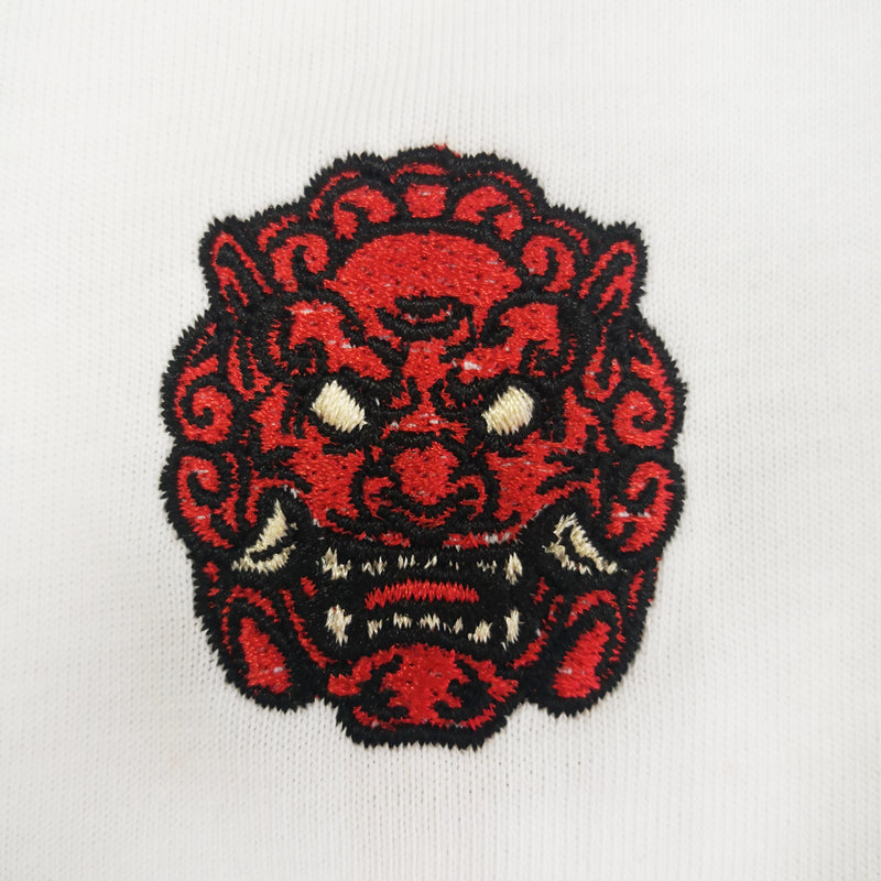 Fu Lion Embroidered Oversized Sweatshirt