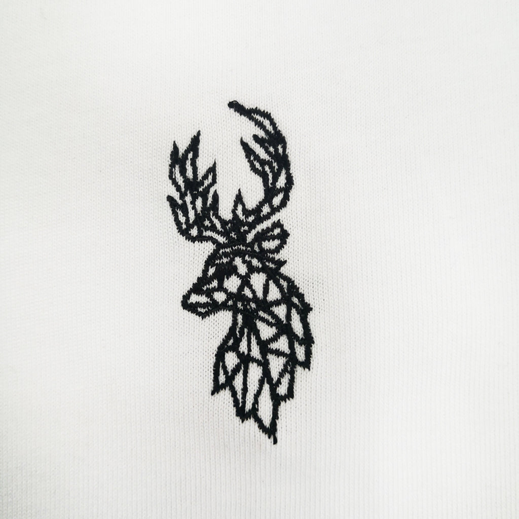 Deer Embroidered Oversized Sweatshirt