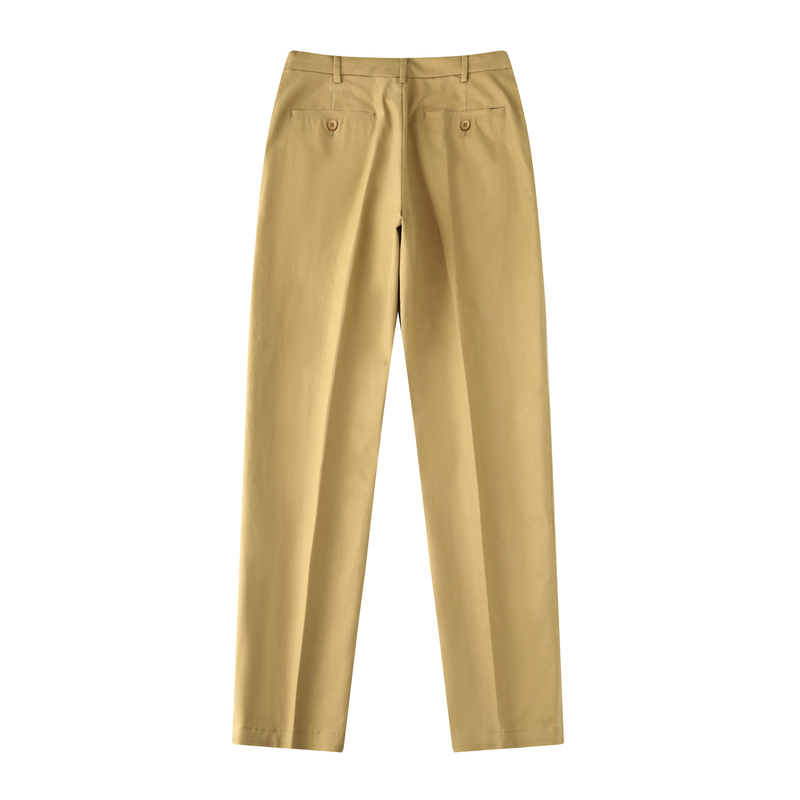SLIM-FIT CHINO FLAT-FRONT PANTS
