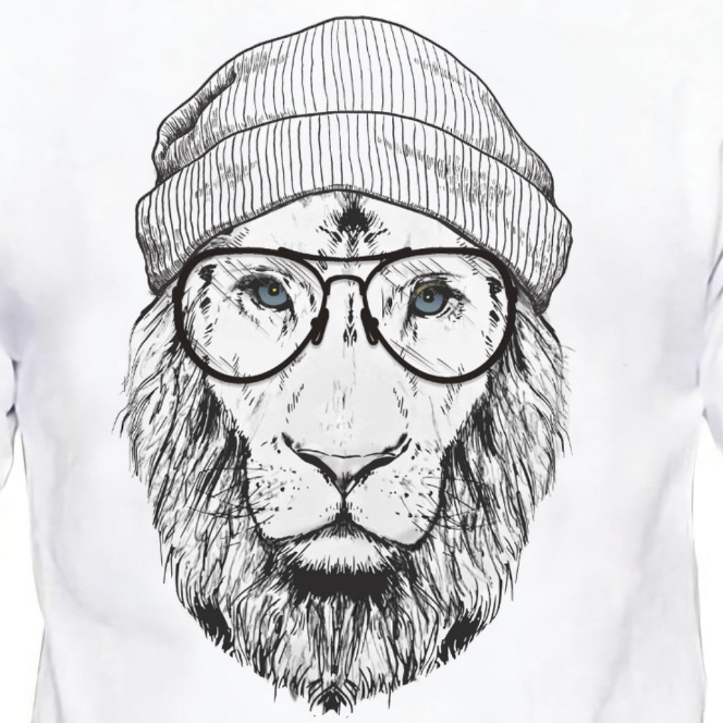 Cool Lion Design T Shirt