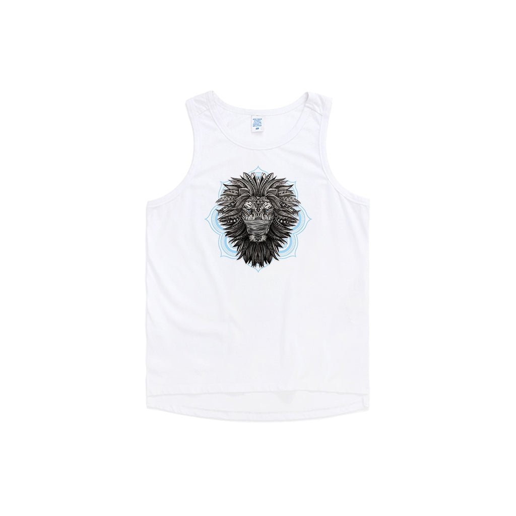 Masked Tribal Lion Oversize Tank Top