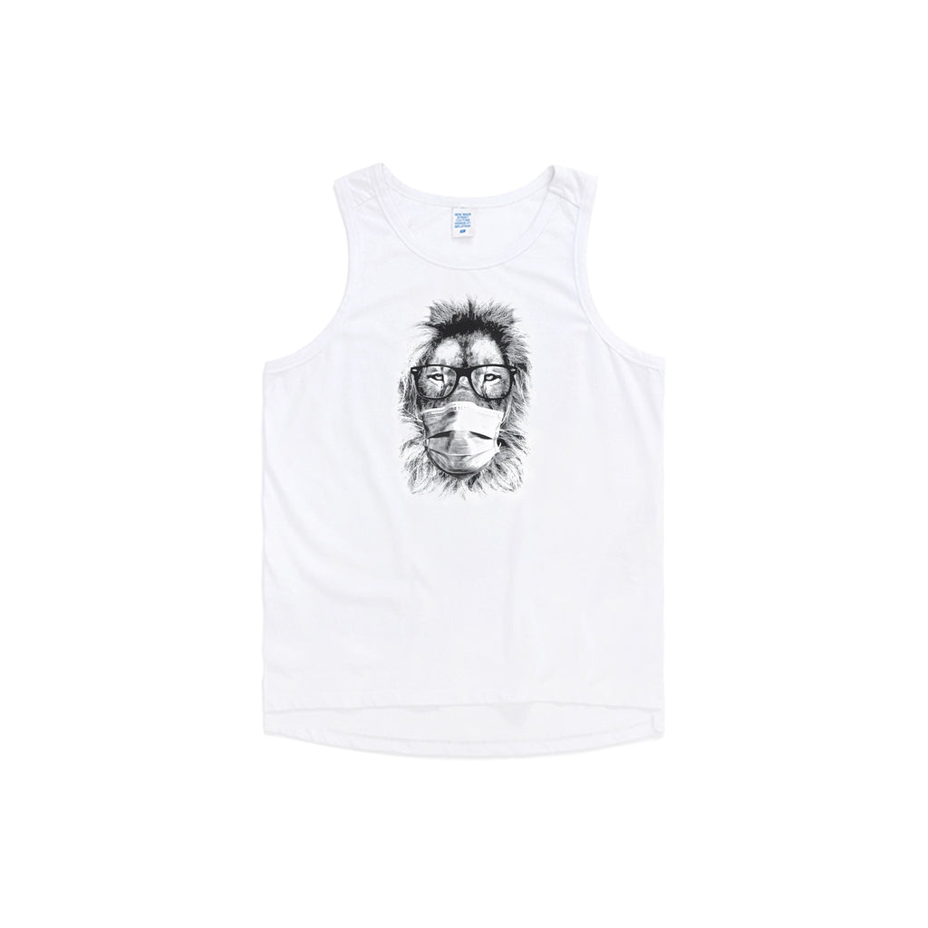 Masked Fashion Lion Oversized Tank Top