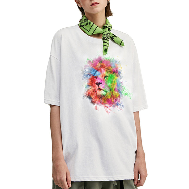 Colorful Lion Oversized T-Shirt