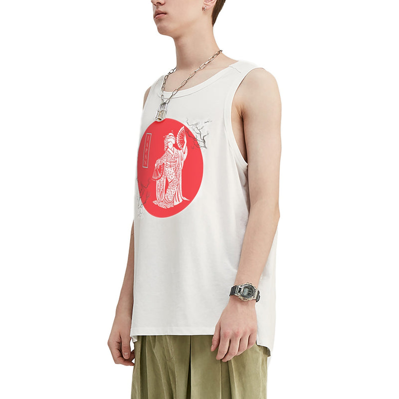 Geisha Dance Oversized Tank Top