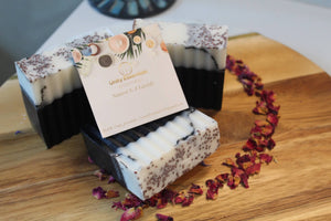 Cranberry Popping Charcoal Soap