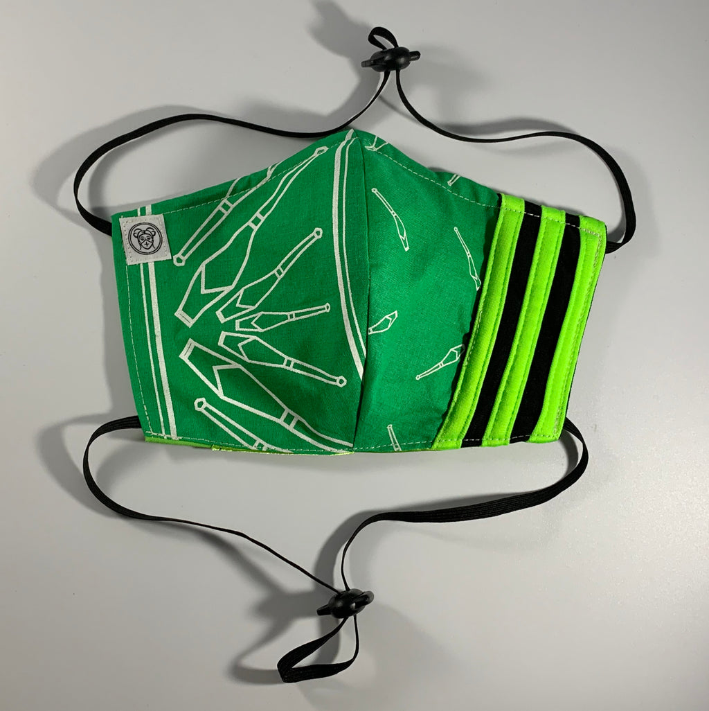Green Club Mask (With Stripes)