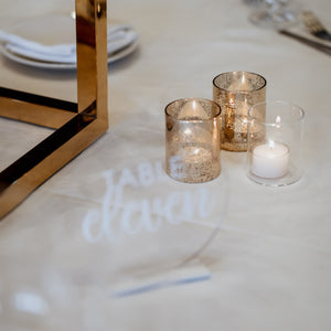White + Clear Acrylic Table Numbers