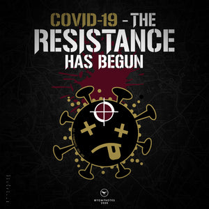 COVID.19 - THE RESISTANCE HAS BEGUN - V1 / Coyote, Wht, Blk - Short Sleeve T-Shirt