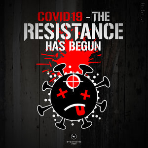 COVID.19 - THE RESISTANCE HAS BEGUN - V2 / Red, Wht, Blk - Short Sleeve T-Shirt
