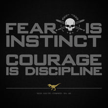 Load image into Gallery viewer, COURAGE IS DISCIPLINE No16/V3 - Short Sleeve T-Shirt