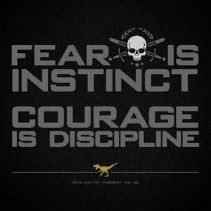 COURAGE IS DISCIPLINE No16/V3 - Short Sleeve T-Shirt