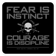 Load image into Gallery viewer, COURAGE IS DISCIPLINE No16/V3 - Sticker