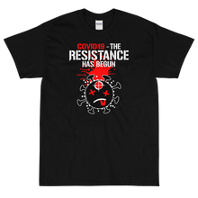 Load image into Gallery viewer, COVID.19 - THE RESISTANCE HAS BEGUN - V2 / Red, Wht, Blk - Short Sleeve T-Shirt