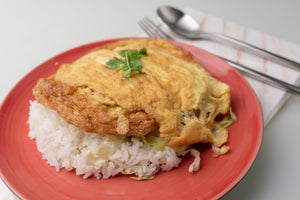 Omelet with Mince Chicken