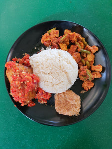 (No.2) Nasi Padang Ayam Sambal Belado (Authentic Red Chilli)