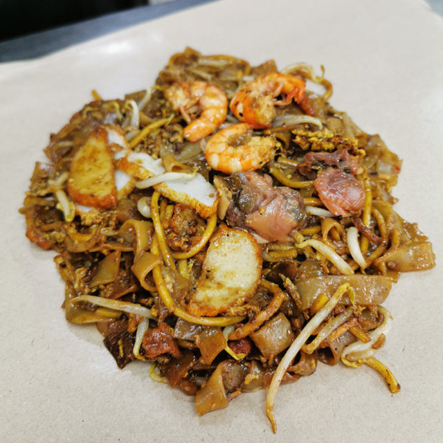 Fried Kway Teow Mee (Black) - Seafood with Chilli