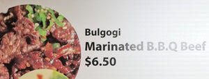 Bulgogi Marinated B.B.Q Beef