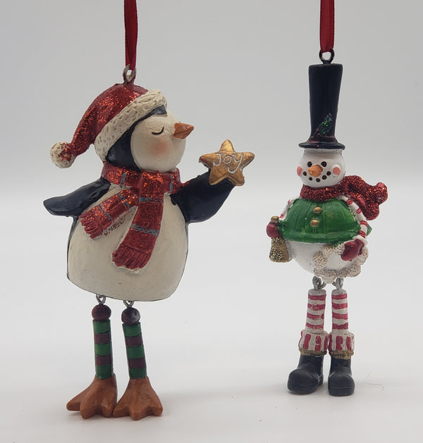 Family Dangling Legs Christmas Ornament