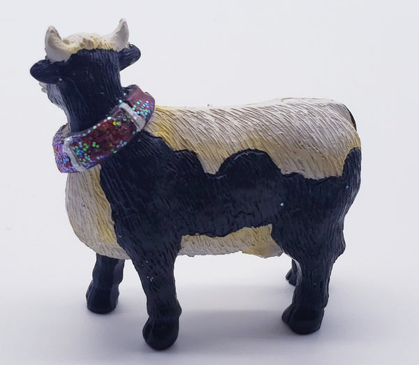 Cow with a scarf Farmhouse Animal Christmas Decoration