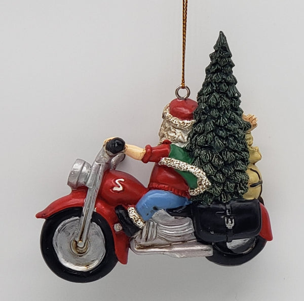 Santa Biker Christmas ornament