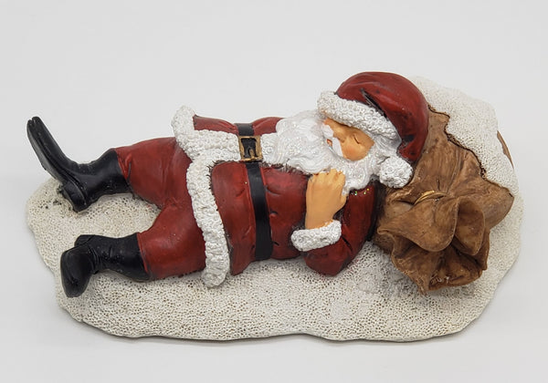 A sleeping santa Christmas decorations
