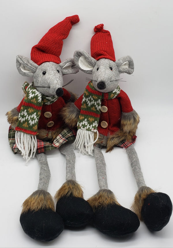 Adorable Mice Christmas fluffy ornament decorations