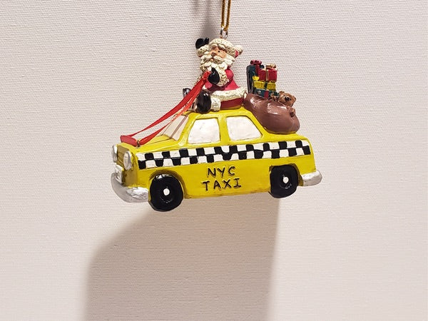 NYC Taxi Driving  Santa Christmas ornament!