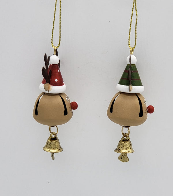 Jingle Bell Reindeer Head Ornament