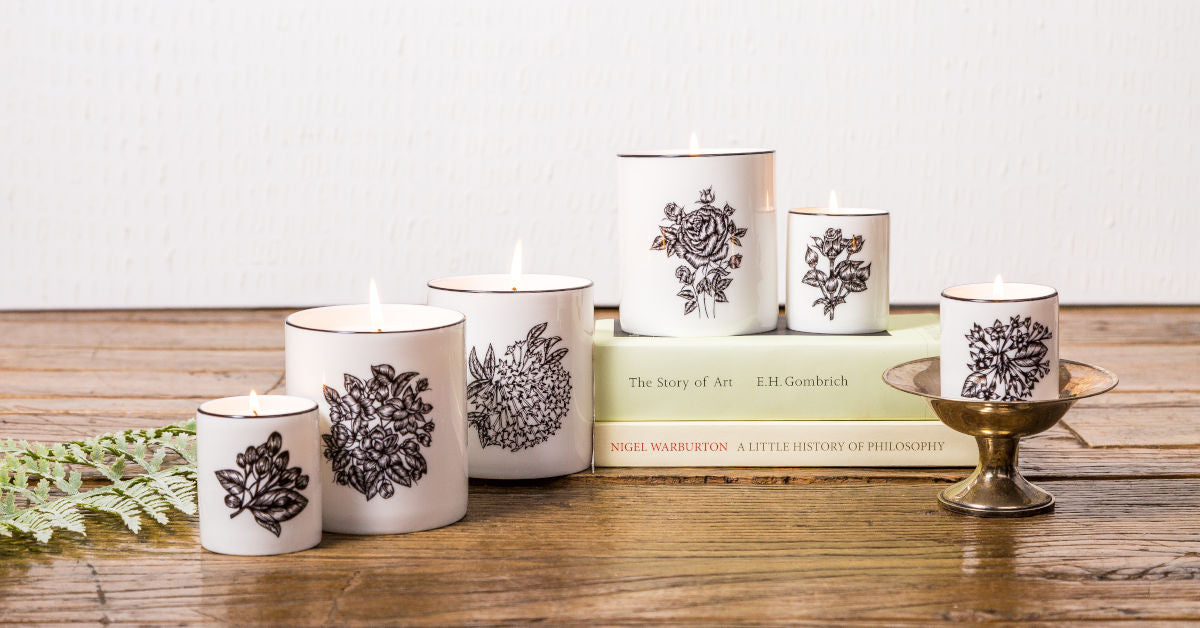 Luxury floral scented candles