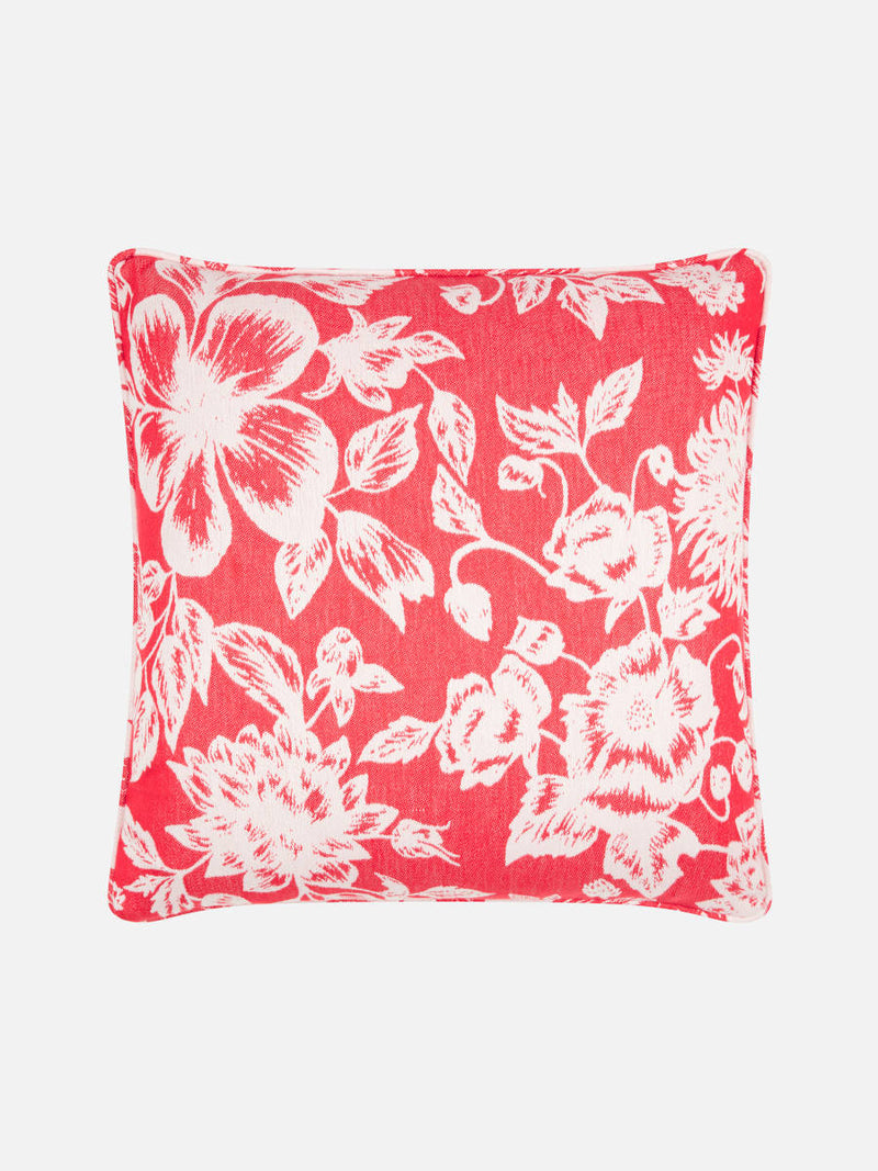 Floral Red & White Cushion