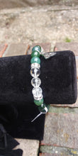 Load image into Gallery viewer, Moss Agate & Quartz Bracelet